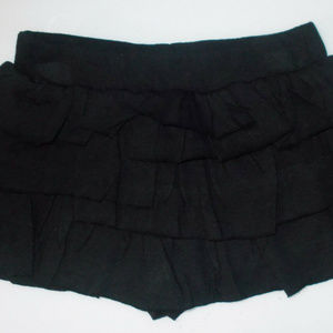 Circo Toddler Girls Tiered Black Skorts Size 4T